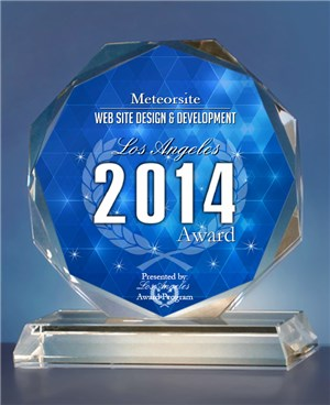 Meteorsite wins Award for Los Angeles Best Web Design & Development Company