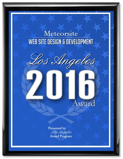 Meteorsite wins 2016 Los Angeles Best Award for Website Design & Development
